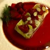 Sweet Tamagoyaki With Strawberry Compote & Almonds Topping